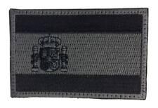 Parche Bandera España Black Ops baja visibilidad mate velcro 7,5 x 4,8 policial