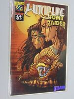 WITCHBLADE TOMB RAIDER WIZARD 1/2 COMIC TOP COW WITH CERTIFICATE 1998 HC465