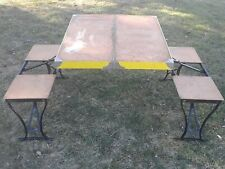 """Vintage Milwaukee Stamping Co.""""HANDY"""" Folding Camping Picnic Table And Chair Set"""