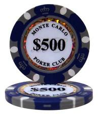 (25) $500 MONTE CARLO CASINO POKER CHIPS