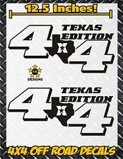 TEXAS 4x4 Off Road Truck Bed Decals MATTE BLACK Ford Chevy Toyota GMC Dodge Ram