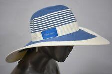 CALVIN KLEIN Colorblock Blue/Cream Striped Sunhat
