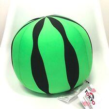 "Tokyo Japanese Soft Cute Watermelon Bead Cushion Plush Stuffed Toy 10"""