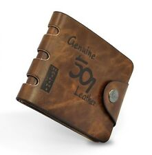 Luxury High Quality Mens Wallet Brown Leather Bifold Credit Card Holder Gift