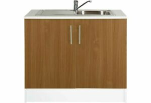 Athina 1000mm Kitchen Sink Unit - Oak Effect (WITHOUT SINK&TAP)