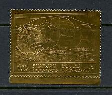 Sharjah  1968  #MiA526A  olympics  sailing  GOLD FOIL 1v.  MNH  H440