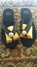 LINDSAY PHILLIPS SWITCHFLOPS FLIPFLOPS SIZE 8 Black &WHITE POLKA DOTS LULU 5000