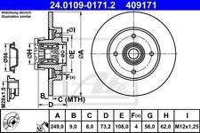 2x Bremsscheibe Bremse ATE (24.0109-0171.2)