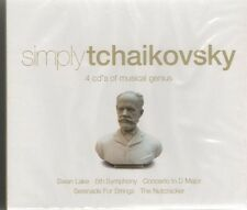 TCHAIKOVSKY Simply Tchaikovsky 4 CD BOX SET   NEW - STILL SEALED