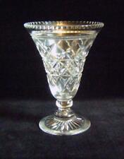 Large Antique / Vintage Cut Glass Lead Crystal Vase with  Bell Shaped Bowl