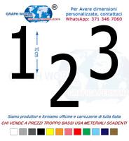 Numeri Adesivi auto/moto racing stickers numero adesivo Thaoma
