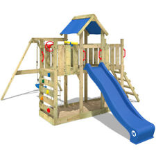 WICKEY TwinFlyer Wooden Climbing Frame PlayTower PlayHouse SwingSet Slide Garden