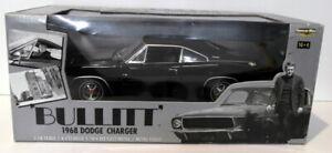 Ertl 1/18 Scale Diecast - 36685 Bullitt 1968 Dodge Charger Black Steve McQueen