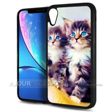 ( For iPhone XR ) Back Case Cover AJH11520 Blue Eye Cat