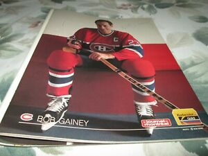 BOB GAINEY    MONTREAL CANADIENS  POSTER COLOR 8 BY 11  1988-1989