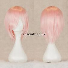 Corto mediano recto en capas Cosplay Peluca En Rosa Suave, vendedor de Reino Unido, Lily Estilo