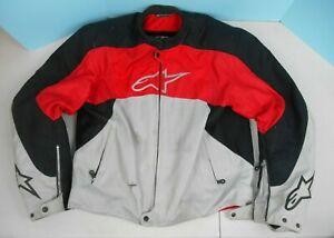 Alpinestars Stunt Padded Motorcycle Riding Jacket XL Red Gray and Black