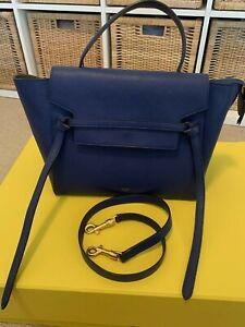 Authentic CELINE BELT BAG IN GRAINED CALFSKIN Blue (RRP $3350 new)