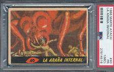 MARTE ATACA! 1966 TOPPS ARGENTINA MARS ATTACKS #40 LA ARANA INFERNAL PSA 1 PR MC