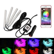 Car Lamp Under Dash Foot Well Lighting RGB Phone Remote For iPhone Android 12V