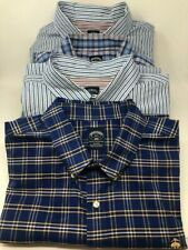 Brooks Brothers Non-Iron 2XLT & 3XLT 100% Supima Cotton 4 Shirts Striped & Plaid