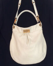 Marc by Marc Jacobs Classic Q Hiller Hobo Cream Pebbled Leather Purse gold h/w