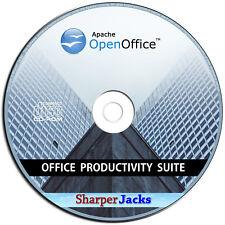 NEW & Fast Ship! Apache Open Office Suite - Word Processor / Spreadsheet Mac CD