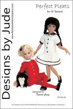 "Pleated Dress Doll Clothes Sewing Pattern 12"" Senson Dolls"