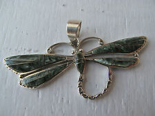 Lovely Dragonfly Pendant - Seraphinite - Signed - Navajo not Zuni