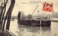 PARIS La Crue de la Seine 1910 Les travaux de tube Berlier Le pont Alexandre