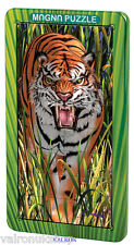 AMAZING TIGER 3D MAGNETIC JIGSAW PUZZLE IN METAL TIN CAN BE MADE ANYWHERE