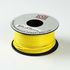 100FT YELLOW PRIMARY WIRE 16 GAUGE AWG STRANDED COPPER POWER REMOTE CAR 12V