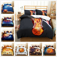 3D Basketball Kids Bedding Set Duvet Cover Comforter/Quilt Cover Pillowcase Set