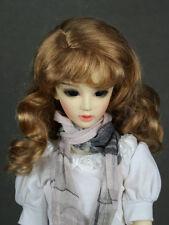 """JD38 6-7"""" Long Brown 1/6 Yo-SD BJD Super Dollfie Doll  Wig"""