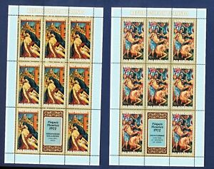 BURUNDI - FVF MNH four S/S - Easter - 1972  ----  two scans
