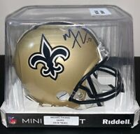 New Orleans Saints Michael Thomas Signed Riddell Mini Helmet Auto COA JSA
