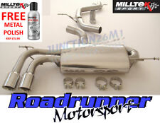 """GOLF GTI MK5 Milltek Scarico Cat Indietro Non Res 2.75"""" SILENZIATORE POSTERIORE più piccolo GT80"""