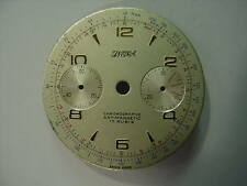 50s VINTAGE LANDERON 48/51 CHRONOGRAPH DIAL - 31.5 MM. RAISE MARKERS - NICE *