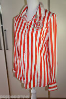 L `Argentina Bluse weiß/rot gestreift GR. 40 uvp: 139,95 €