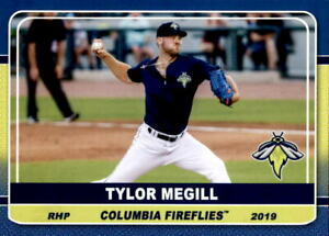 2019 Columbia Fireflies Grandstand 13 Tylor Megill Long Beach California CA Card