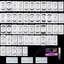 AmorUS 100% Human Hair False Eyelashes Eye Lashes (60 pairs Set)- PICK 60 styles