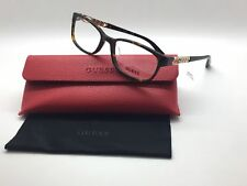 Guess Dark Havana Chain Link GU 2558F 052 54mm Eyeglasses Frames