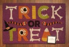 """Halloween Coir Doormat Trick or Treat Welcome Rug Entry Doormat 18""""x 28"""" NEW"""