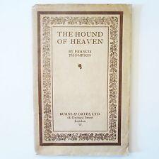 Hound of Heaven - Francis Thompson - Burns Oates - Antique c1915