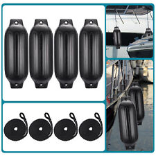 "4pcs Ribbed Boat Fender 8.5""x27""Inflatable Center Hole Bumper Mooring Protection"