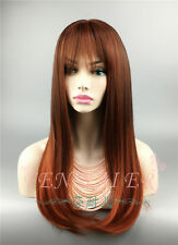 New noriko wig burgandy rosa slinky sexy hot long straight soft lady's full wigs