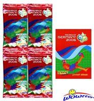 (4) 2006 Panini World Cup Mini Stickers Sealed Packs+Album-RONALDO/MESSI RC YR!