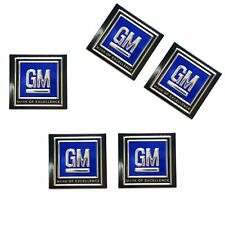 5x GM Logo Seatbelt Authentic DECAL Seat Belt Push Button Style 60s 70s 80s LSX