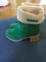 Green Ankle Boots Euro 37