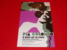 COLL.J. LE BOURHIS AFFICHES Spectacles / PIA COLOMBO 1930 ANGERS 1973 Rare! AMCA